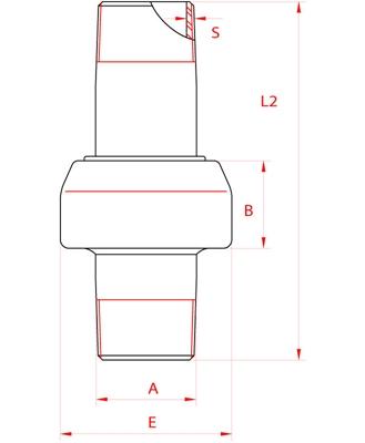 Meccanica Segrino - Giunto Isolante maschio/maschio PN10 per gas e acqua / Isolation joint male/male PN10 for gas/water